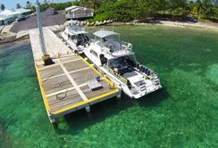 Cayman Islands Scuba Diving Holiday. Cayman Brac Dive Centre. Jetty.
