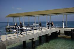 Layang Layang Dive Centre jetty.