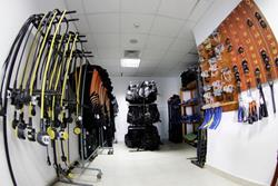 Marsa Alam - Red Sea Dive Holiday. Equipment room.