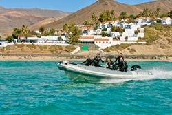 Fuerteventura - Canary Islands. Dive boat.