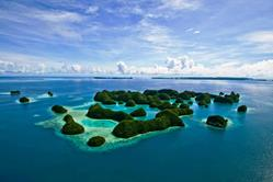 Palau Scuba Diving Holiday. Aerial Shot.