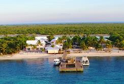 Cayman Islands Scuba Diving Holiday. Little Cayman Dive Centre. Aerial View.