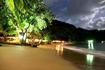 Blue Waters Inn Beach at night