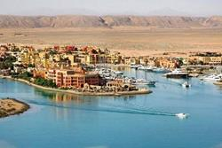 El Gouna - Red Sea. Aerial view of Three Corners Ocean View.