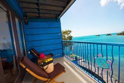 True Blue Bay Resort, Grenada. Waterfront Suite balcony.