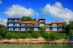 True Blue Bay Resort, Grenada. Waterfront building exterior.
