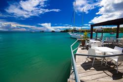 Grenada Dive Holiday. True Blue Bay Hotel - Restaurant.