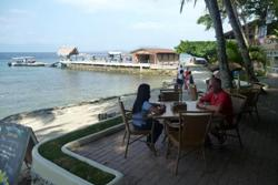 El Galleon Dive Resort, Puerta Galera - Philippines. Terrace bar.