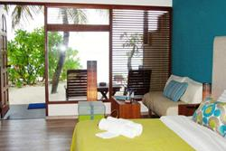 Maldives scuba diving holiday - Eriyadu Island Resort. Standard room.