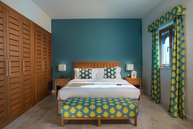 Sifawy Boutique Hotel - Sifah, Oman. Apartment Master bedroom.