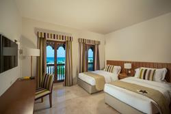 sifawy Boutique Hotel - Sifah, Oman. Apartment Twin bedroom.