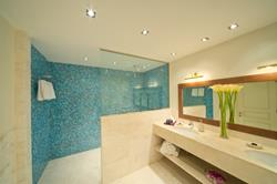 Sifawy Boutique Hotel - Sifah, Oman. Marina Suite bathroom.