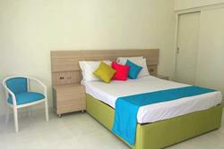 Red Sea - Safaga. Surf and Dive Lodge at Shams Beach Hotel. Double bedroom.