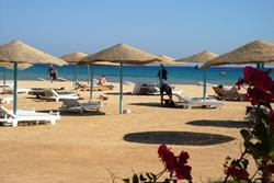 Red Sea - Safaga. Surf and Dive Lodge at Shams Beach Hotel. Beach.