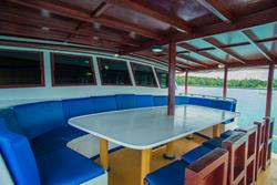Maldives Emperor Atoll Liveaboard - deck seating.