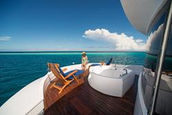 Maldives Liveaboard - Orion. Upper deck Jacuzzi.