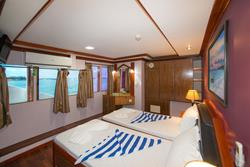 Maldives Liveaboard - Orion. Twin cabin with windows.