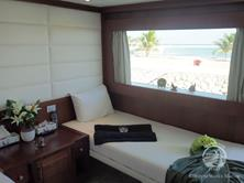 Oman Scuba Diving Holiday. Luxury Oman Aggressor Liveaboard. Master Stateroom.