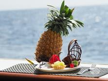 Oman Scuba Diving Holiday. Luxury Oman Aggressor Liveaboard. Fresh Fruit.