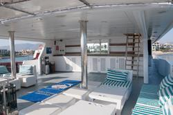 Oman Scuba Diving Holiday. Luxury Oman Aggressor Liveaboard. Outside Area.
