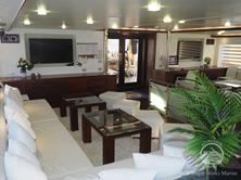 Oman Scuba Diving Holiday. Luxury Oman Aggressor Liveaboard. Lounge.
