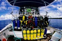 Palau Liveaboard Scuba Diving Holiday. Ocean Hunter I. Dive Deck.