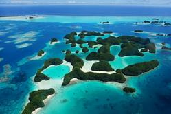 Palau Liveaboard Scuba Diving Holiday. Aerial view of Palau.