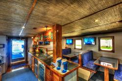 Palau Liveaboard Scuba Diving Holiday. Ocean Hunter III. Dining and Galley.