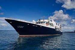 Truk Lagoon Scuba Diving Holiday. Truk Master Liveaboard. Side View.
