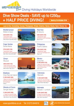 Dive Show 2017 Holiday Offers